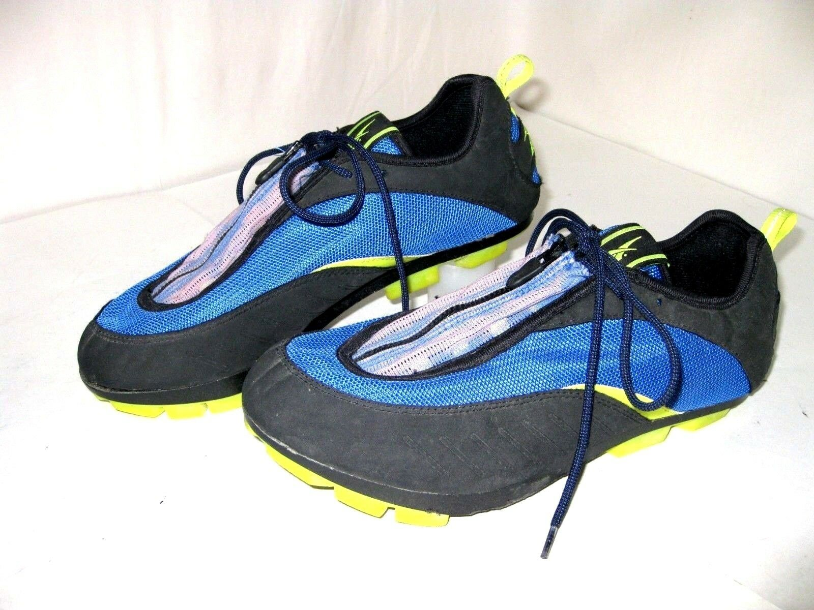 Reebok Cycling Bike  shoes with Clips  bluee Yellow Women's US Size 9  supply quality product