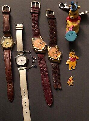 Disney Winnie The Pooh Jewelry Lot Watch Charm Keychain ...