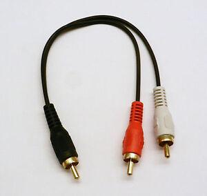 RCA-Plug-Male-To-2-RCA-Plug-Male-Y-Splitter-Audio-Video-Cable-Adaptateur-Fil-Cordon