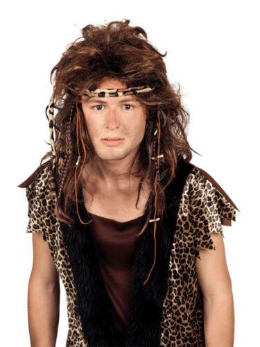 Perruque ancestraux savage âge de pierre homme carnaval mardi gras perruque