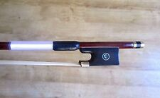 "Fibreglass or carbon fibre Violin bow, full size, 4/4, 29 3/8"", 67g."