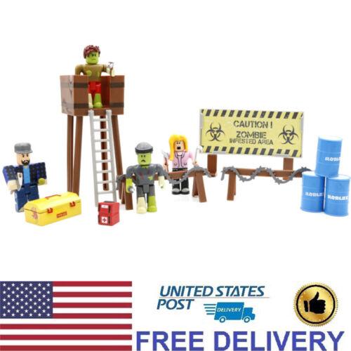 4 PCS Roblox Attack Caution Zombie Roblox Legend Action Figure Cake Topper Toys