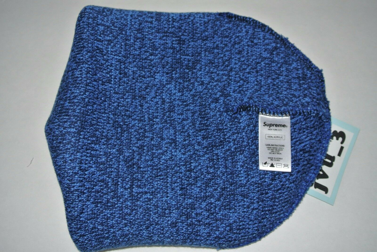 51bef50df98 Supreme Men s One Size Mixed Yarn Beanie in Melange Royal Fw16bn21 for sale  online