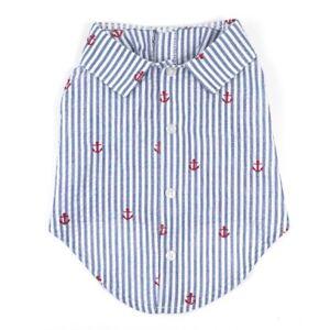 The-Worthy-Dog-Navy-Stripe-Anchor-Shirt-Cotton-Preppy-Hipster-Sizes-XS-XXL