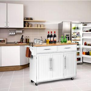 Details zu Kücheninsel Servierwagen Küchenwagen Küchenschrank Rollwagen  Küchen