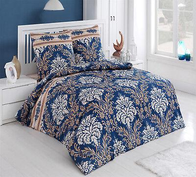 Bettwäsche 200x200 Baumwolle Bettgarnitur Mit Reißverschluss 3 Teilig L-7021 Eine Hohe Bewunderung Gewinnen Bettwäschegarnituren