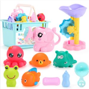 Baby-Badwasser spielt Gummiente-Fisch-Strand-Spielzeug für das Baden der Kinder