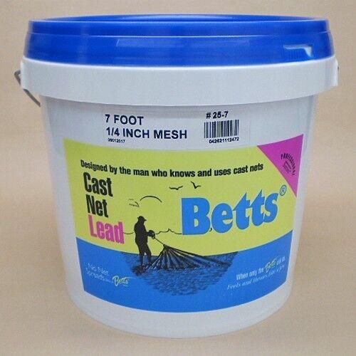 Betts Series 1 4  Mesh Cast Net 7' Casting Net 25-7