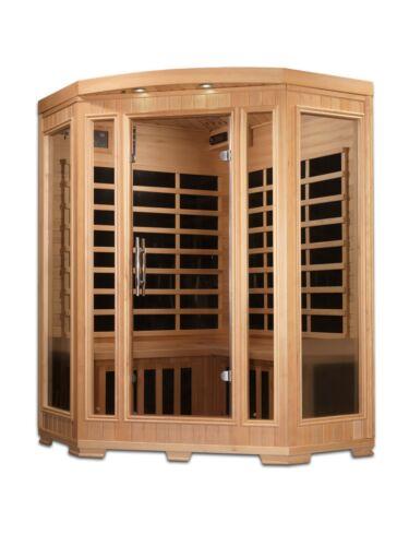 Dynamic Harmony 3 Person Corner Low EMF Far Infrared Sauna 9 Carbon Heaters NEW!