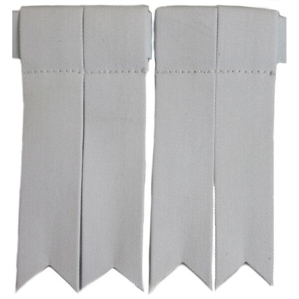 Abundante Falda Escocesa Hose Calcetines Bandas Blanco/blanco Distintivos De Kilt /