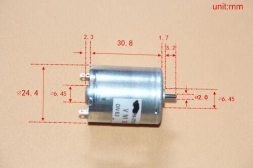 1PCS RK-370C-20190 DC6V 5097rpm Carbon Brush DC Motor for Blood Pressure Pump