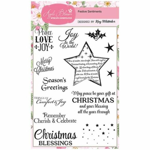 Apple Blossom A6 Stamp Set Festive Sentiments