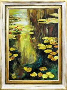 """Claude Monet """" Wasser-lilien """" Ölbild Photos Tableau Peinture Avec Cadre ´g94041"""