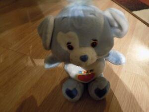 "10"" Care Bear Cousin Loyal Heart Dog Plush 2003 Blue Heart Tummy NWOT New"