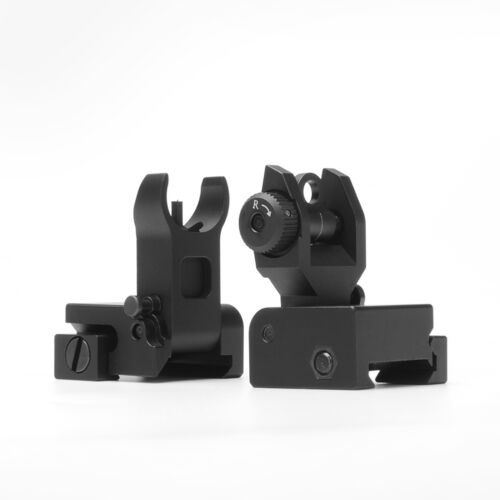 US Front/&rear FlipUp Iron Sight QD Rapid Transition Picatinny rail for rifle