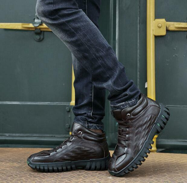 Fashion Men's High Top Outdoor Sport Casual Non-slip Snow Boot Tooling Shoes Sb