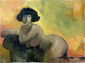 Female-Nude-Original-Oil-Painting-18-034-x24-034-Signed