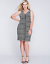 LANE-BRYANT-Exposed-Zipper-Sheath-Dress-Women-039-s-Plus-20-26-28-Black-White-2x-4x thumbnail 1