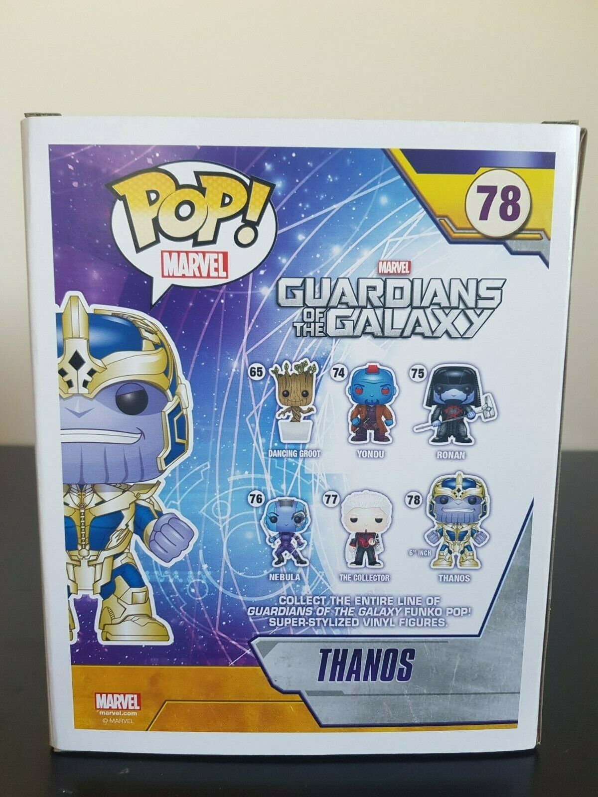 Marvel Funko Pop - - - Thanos - Guardians of the Galaxy - No. 78 643a54
