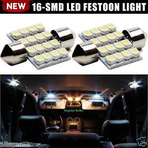 2-X-Blanco-Luces-LED-16-SMD-31mm-5050-DE3175-12V-Luces-de-interior-de-domo-Mapa