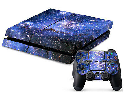 Blue DEEP SPACE Sticker for Playstation 4 PS4 Console + 2 Controller Skins