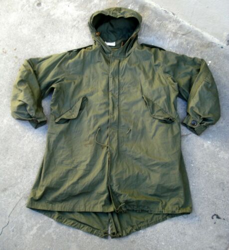 Vtg US Army M-1951 Fishtail Parka With Liner Coat