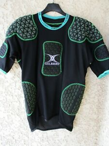 Maillot-Protection-rugby-GILBERT-noir-vert-IRB-approved-L