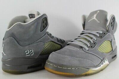 hot sale online 8bcf5 20fee Nike Air Jordan Retro 5 Wolf Grey White Light Graphite Size 11.5 136027-005  | eBay