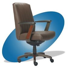 Adjustable Swivel La Z Boy Modern Wood Smooth Brown Executive Office Desk Chair