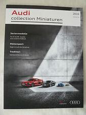 Audi collection Miniaturen - Prospekt Brochure 01.2016