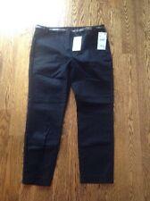 EUC ZARA Basic Collection BLACK Cropped Dress Pants w/ Belt BLACK 44, US 12