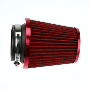 Red-Universal-3-034-Car-Air-Filter-Clean-Intake-High-Flow-Short-RAM-COLD-Round-Cone