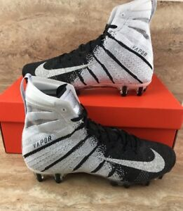 b0d0fca1a1a87 Nike Vapor Untouchable 3 Elite Football Cleats White Black Metallic ...