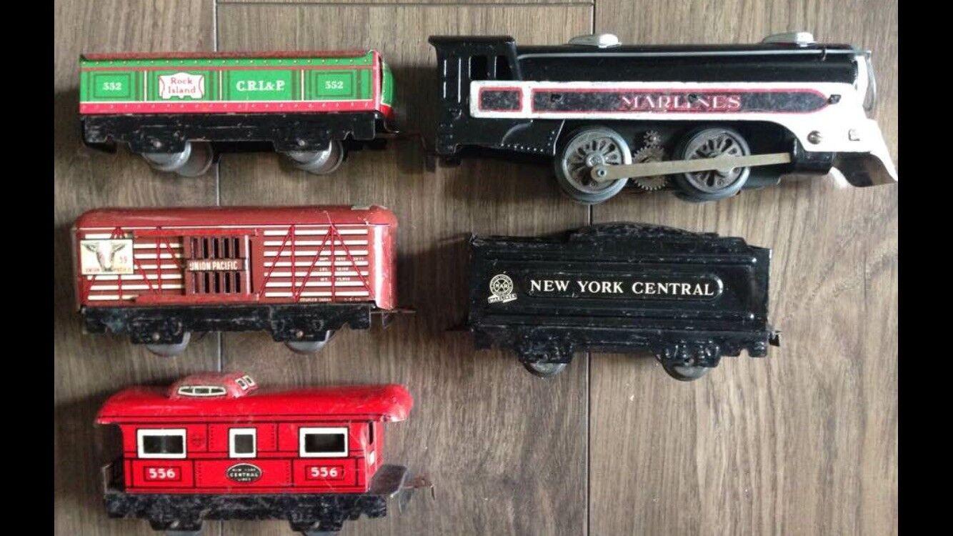 Mar Tinplate Train set New York Central Marlines 1960's Rare VGC