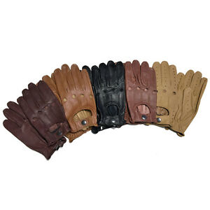 GENUINE-LAMSBSKIN-SOFT-LEATHER-SKIN-FIT-DRIVING-GLOVES-CHAUFFEUR-BUS-WHEELCHAIR