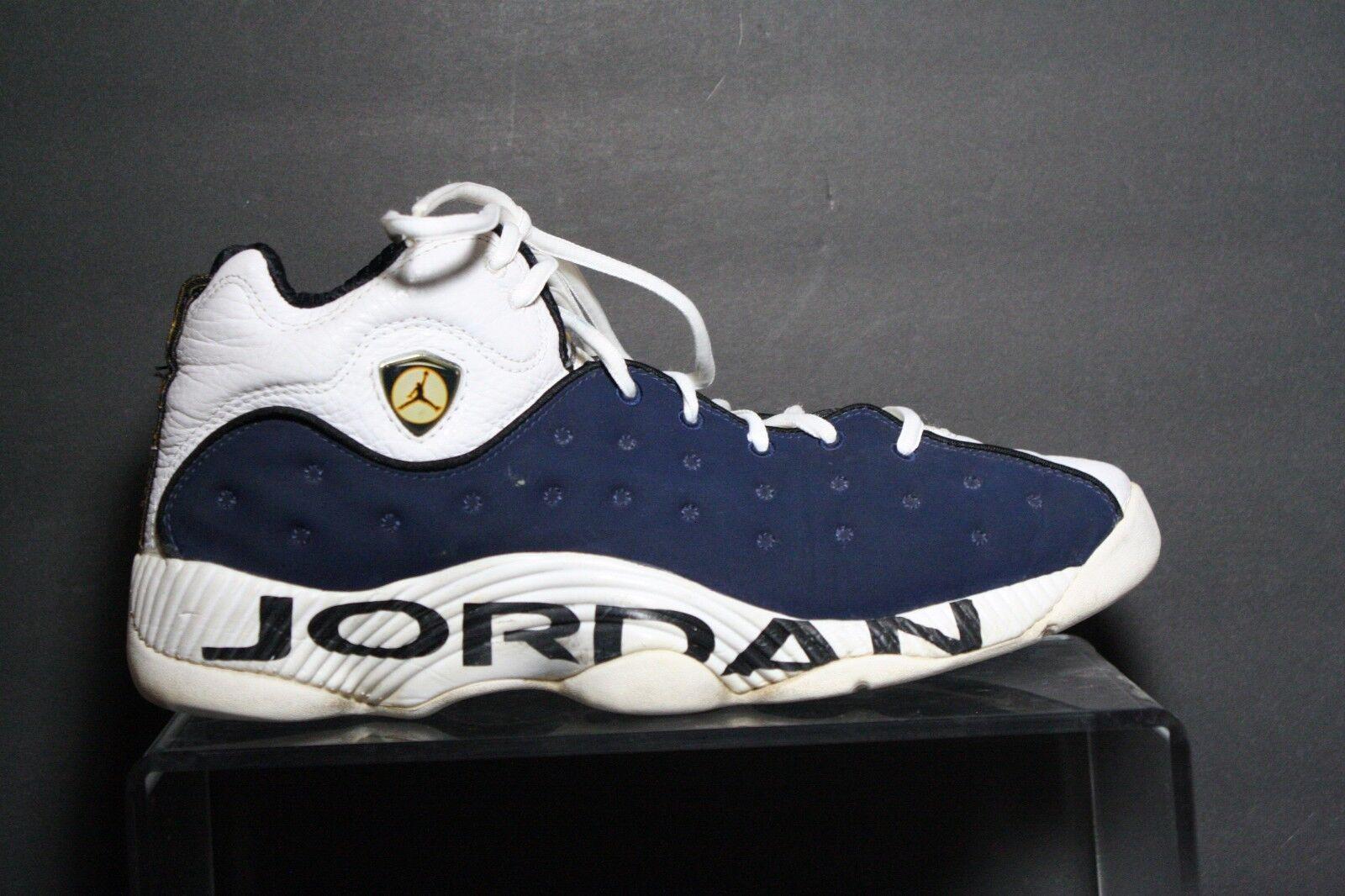 Nike air jordan squadra ripropone og 1998 - 13 atleti uomini della marina bianchi, scarpe da ginnastica di basket