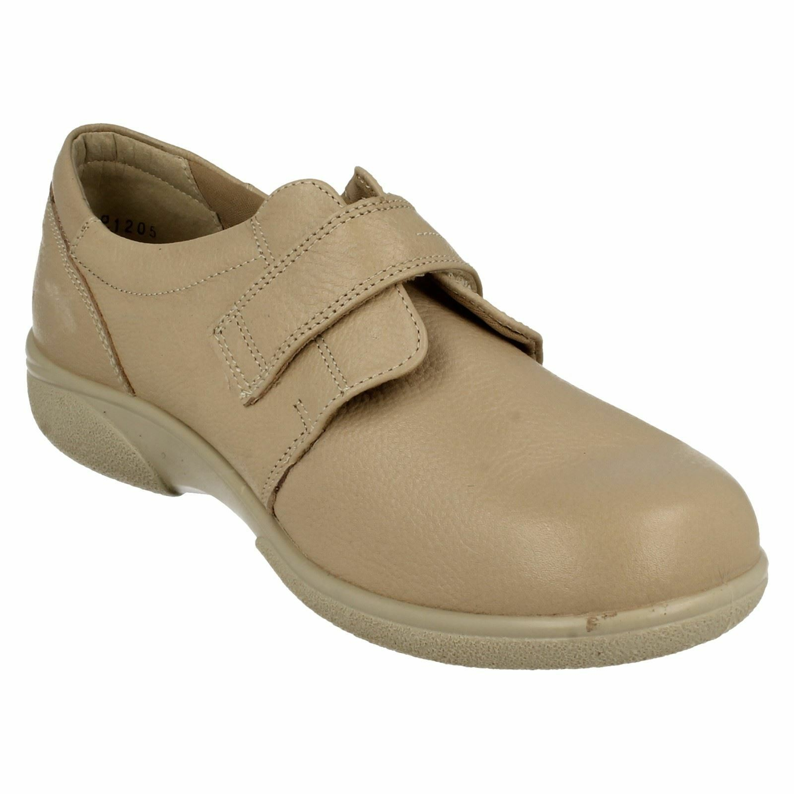 DB DB DB EASY B HEALEY LADIES RIPTAPE STRAP LEATHER CASUAL EVERYDAY SMART FLAT SHOES b656ae