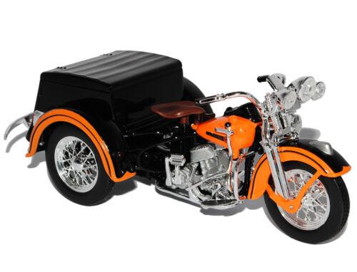 Harley Davidson 1947 Trike Service Car Orange 1//18 Maisto Modell Motorrad mit od