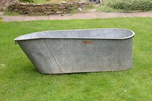 Image Is Loading Antique Galvanized Bath Old Metal Washing Tub