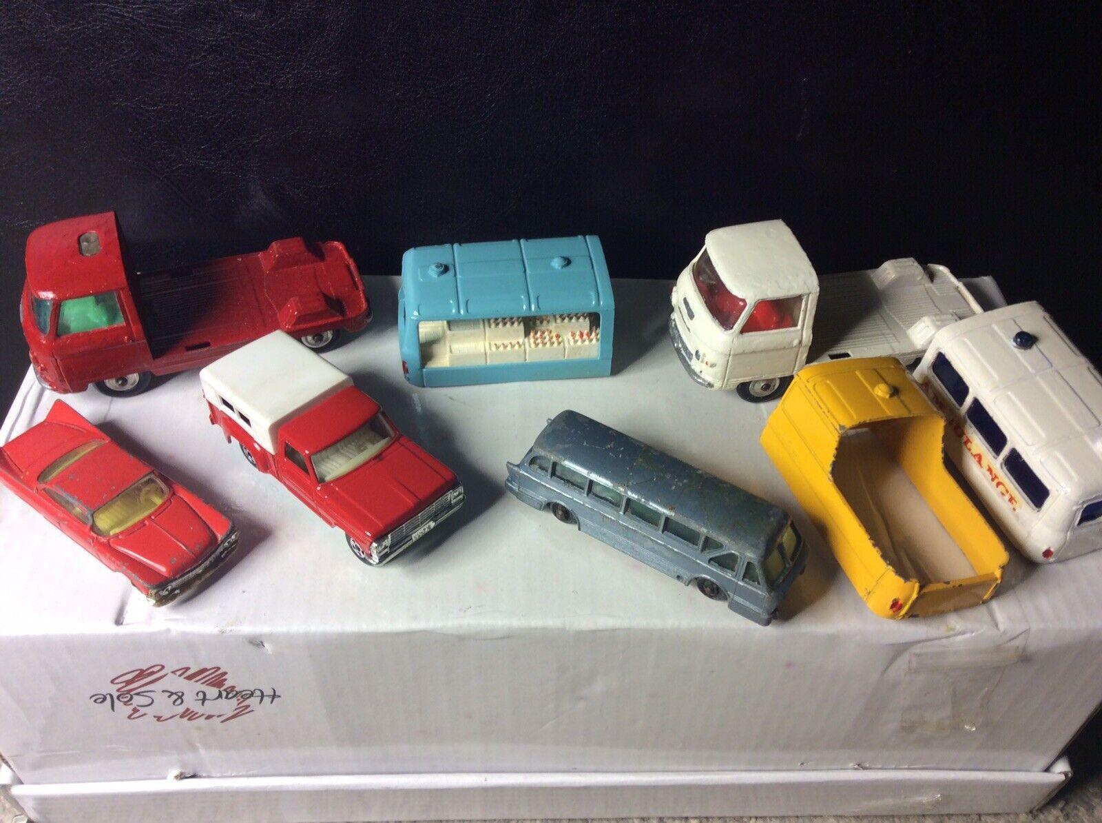 Paquete de los vehículos de juguete Vintage Corgi Matchbox Husky Leyland