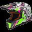 LS2 MX437 STRONG GREEN//PINK MX ATV OFF ROAD  MOTOCROSS MOTORCYCLE QUAD HELMET