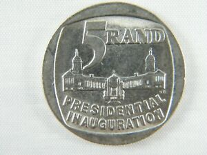Moneda-South-Africa-5-Rand-1994-Presidential-Inaguration-World-Coins