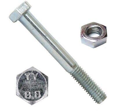 5 Stk Sechskantschraube mit Schaft DIN 931 8.8 M10 x 160 verzinkt