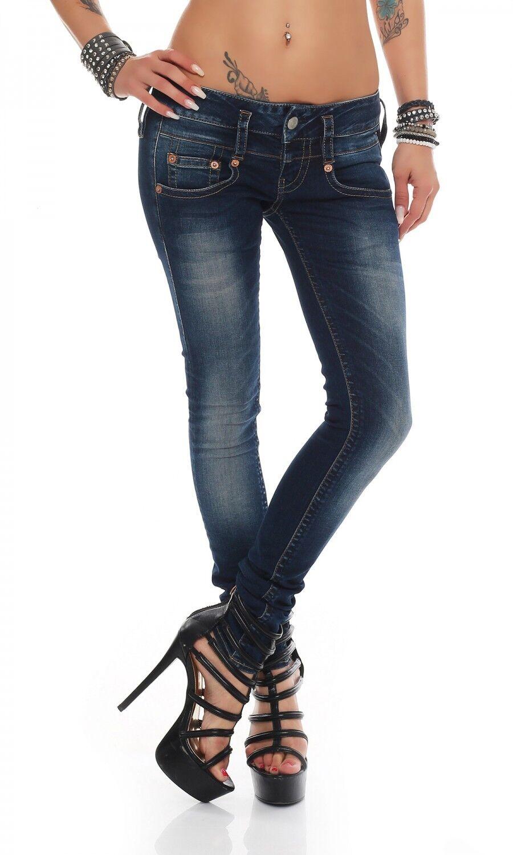 HERRLICHER - PITCH Slim - D9668 051 - Röhre - Blau Damen Jeans Hose