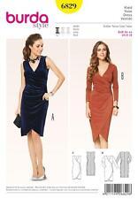 BURDA SEWING PATTERN LADIES TIGHT FITTING DRESS 8 - 18   6829