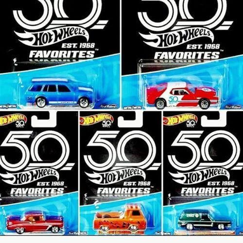 1 64 Hot Wheels 50th Favorite first lot of 5