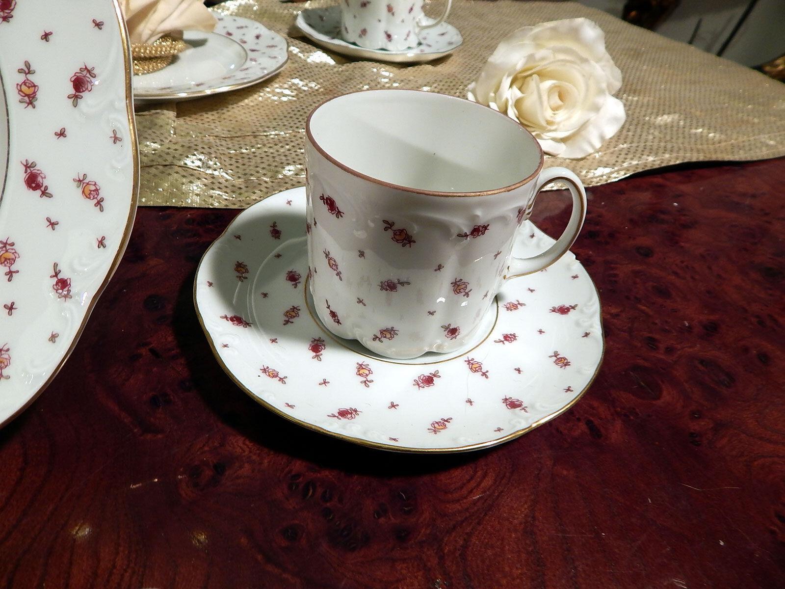 Edles Kaffeeservice Rosanthal Mon Mon Mon Bijou Blütenteppich 22teilig  top 6e3d42