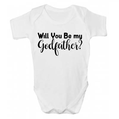 Amichevole Vuoi Essere Il Mio Padrino/padrini? Baby Grow/body-carino Bambini Clothing-arents? Baby Grow / Bodysuit - Cute Babies Clothing It-it Mostra Il Titolo Originale Piacevole Al Palato