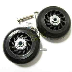 2 Set Luggage Suitcase Replacement Wheels Axles Deluxe Repair OD 75mm New