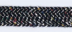 36-Yard-Bolt-of-4-5-034-Width-Flat-Black-amp-Multi-Colors-Woven-Trim-27630BK